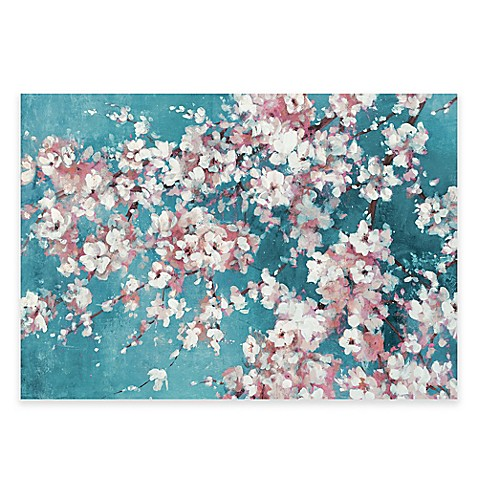 Into The Cherry Blossom Blue Canvas Wall Art Bed Bath