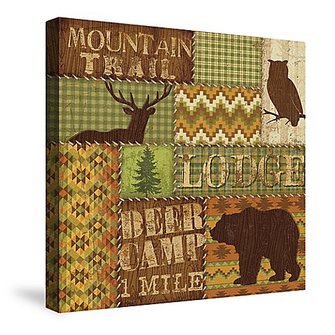 Laural Home Woodland Words I Canvas Wall Art Bed Bath Beyond