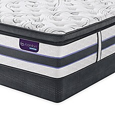 image of Serta® iComfort® HYBRID HB500Q SmartSupport™ Super Pillow Top Low Profile Mattress Set