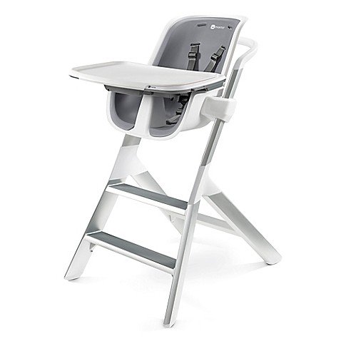 4moms high chair in white grey buybuy baby