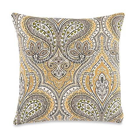 Make-Your-Own-Pillow Edsel Throw Pillow Cover in Yellow - Bed Bath & Beyond