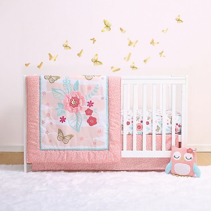 Aflutter 3 Piece Crib Bedding Set, The Peanut Shell Bella 6 Piece Crib Bedding Set