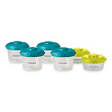 image of Beaba® Clip 6-Piece Food Storage Container Set in Peacock