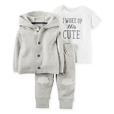 image of carter's® 3-Piece Babysoft Hoodie, Pant, and