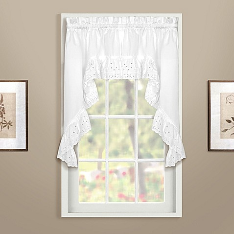 Buy vienna swag window curtain valance in white from bed - Swag valances for bathroom windows ...