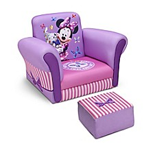 image of Delta™ Disney® Minnie Mouse Upholstered Chair with Ottoman