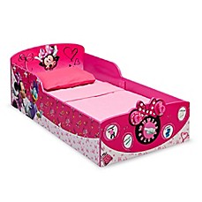 image of Delta™ Disney® Minnie Mouse Wooden Interactive Toddler Bed