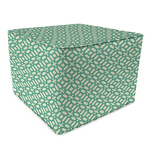 Outdoor 20-Inch Square Pouf in In the Frame Oasis - Bed Bath & Beyond