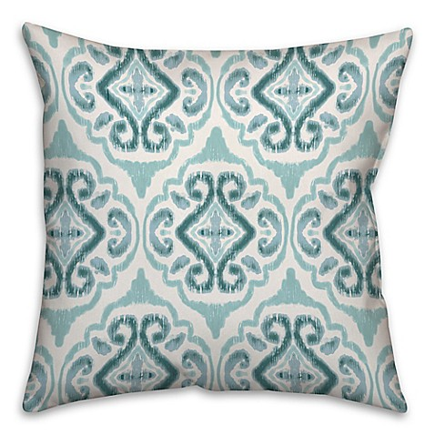 Watercolor Coastal Throw Pillow in Blue - Bed Bath & Beyond