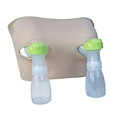 image of Pump Strap Hands-Free Pumping Bra and Cup in Beige