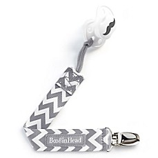 image of BooginHead® PaciGrip in Grey/White Chevron