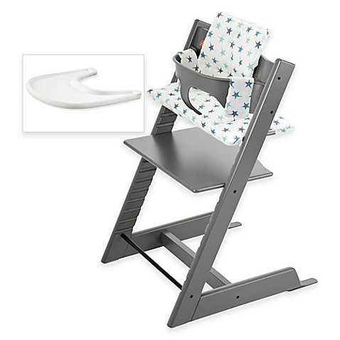 stokke tripp trapp high chair complete bundle in storm