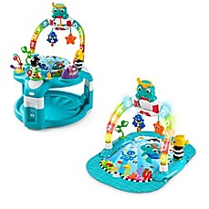 image of Baby Einstein™ 2-in-1 Lights & Sea Activity Gym & Saucer