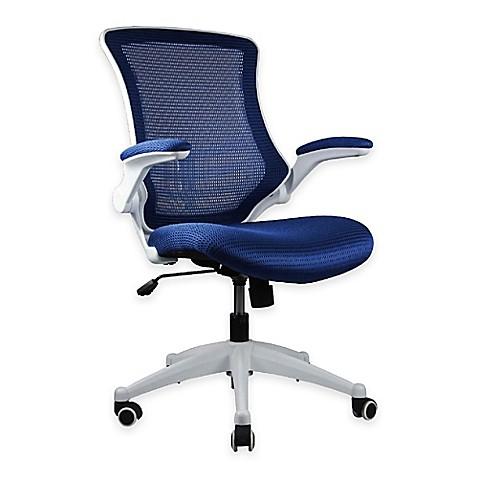 Manhattan Comfort Lenox Mesh Adjustable Office Chairs Set Of 2 Bed Bath