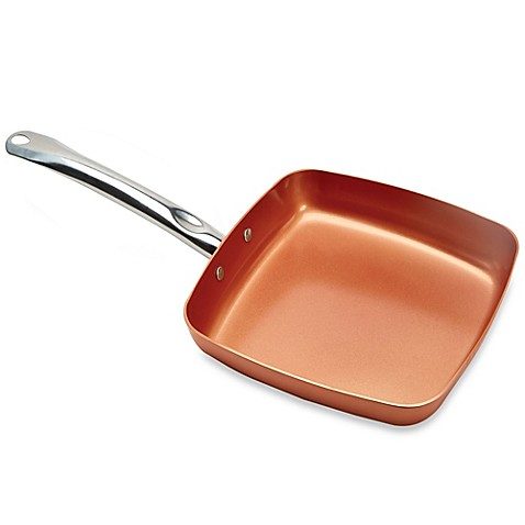 Copper Chef 9 5 Inch Square Nonstick Fry Pan Bed Bath