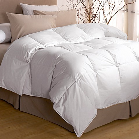 image of restful nights premium down comforter in white - Down Blankets