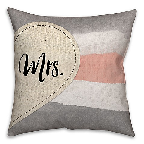 Buy Quot Mr Quot And Quot Mrs Quot Dual Sided 18 Inch Throw Pillow From