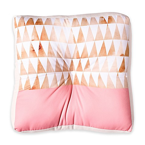 Gold Floor Pillows : Buy DENY Designs Georgiana Paraschiv Gold Triangles Square Floor Pillow from Bed Bath & Beyond