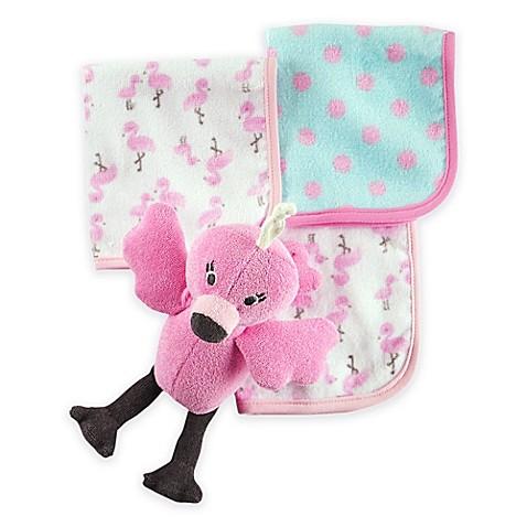 Carter S 174 Flamingo Plush Bath Toy And Washcloth Set In