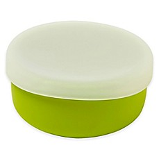 image of Modern Twist 4.85 oz. Silicone Bowl with Lid in Green