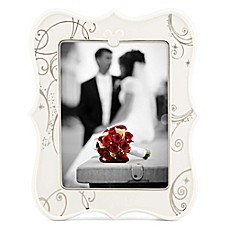 image of Lenox® Disney Mickey & Minnie True Love 4-Inch x 6-Inch Picture Frame