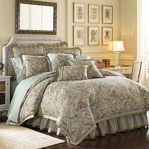 J Queen New York Barcelona Comforter Set In Aqua Bed