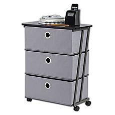 Studio 3B™ 3 Drawer Wide Storage Cart In Grey