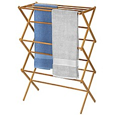 image of Household Essentials® Bamboo X-Frame Clothes Drying Rack