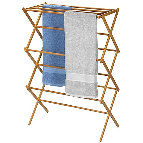 Household Essentials 174 Bamboo X Frame Clothes Drying Rack