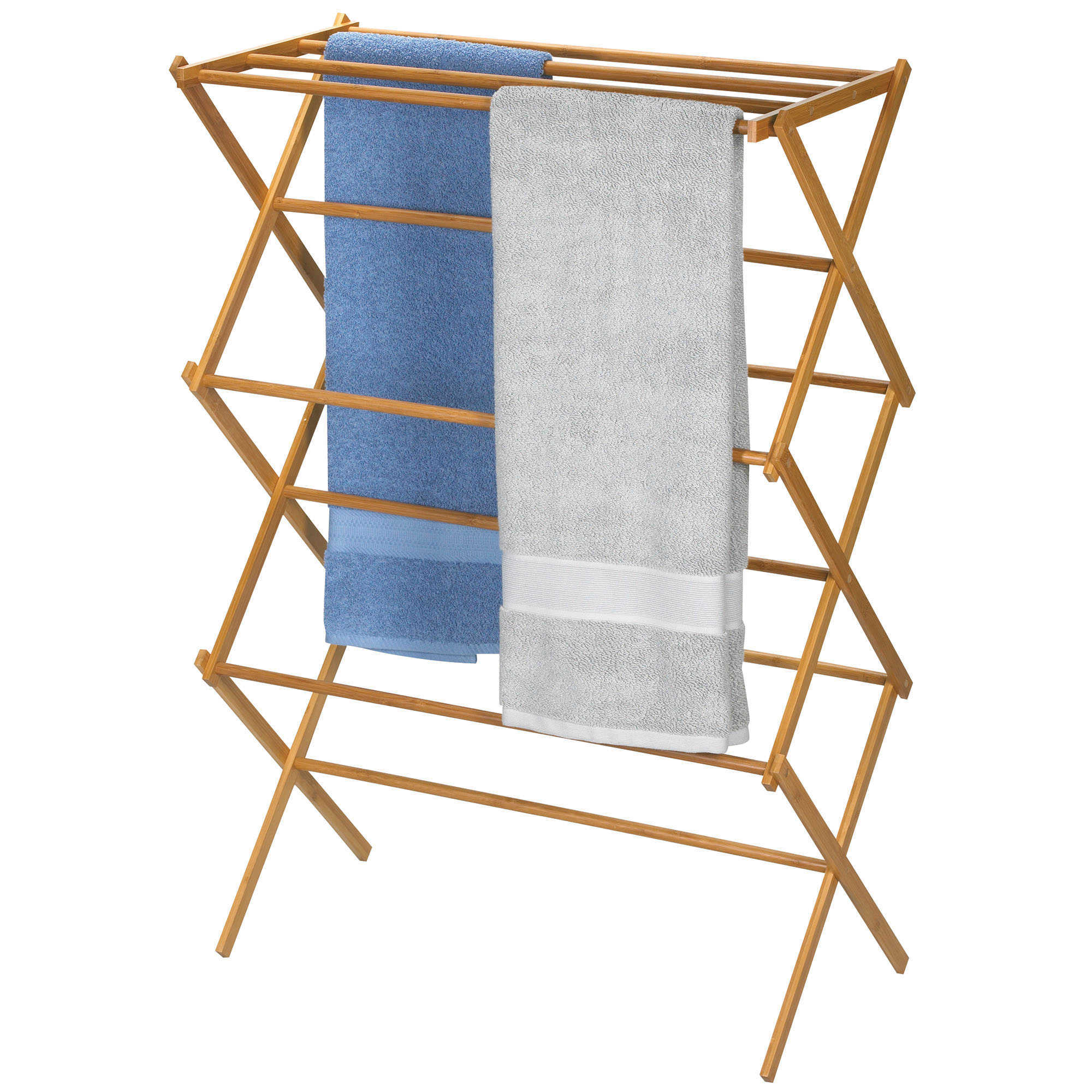 image of Household Essentials  Bamboo X Frame Clothes Drying Rack. Drying Racks  Laundry Organizers  Clothes Lines   Wash Bags   Bed