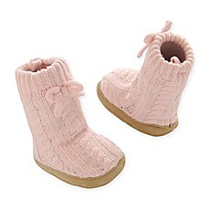 image of Goldbug™ Cable Knit Slipper Socks in Pink