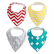 image of Ziggy Baby™ 4-Pack Bandana Bib Set in Multicolor