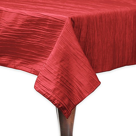 Buy Delano 50-Inch Square Tablecloth in Red from Bed Bath ...