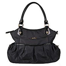 image of Green Frog Baby Gia Diaper Bag in Black