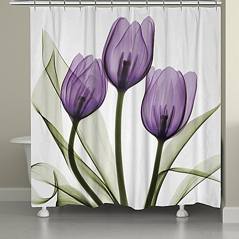 Laural home tulips shower curtain bed bath beyond - Bathroom items that start with l ...