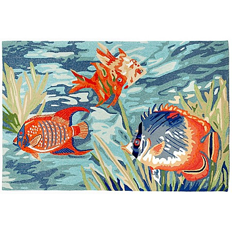 Trans Ocean Ravella Tropical Fish Ocean Indoor Outdoor Rug