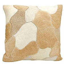 image of Mina Victory Natural Leather Hide Jigsaw Puzzle Square Throw Pillow