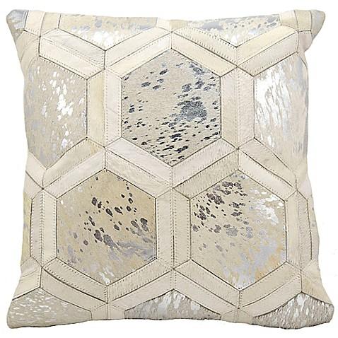 Big Square Throw Pillows : Michael Amini Big Hexagon Square Throw Pillow - Bed Bath & Beyond