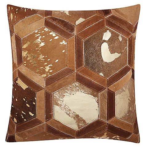 Michael Amini Hexagon Square Throw Pillow Bed Bath And Beyond