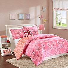 image of INK+IVY Kids Julia Reversible Comforter Set in Pink