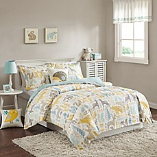 image of INK+IVY Kids Woodland Comforter Set in Aqua