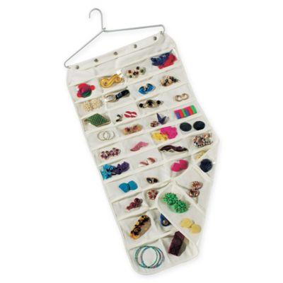 Household Essentials Premium 80Pocket Canvas Jewelry Organizer in