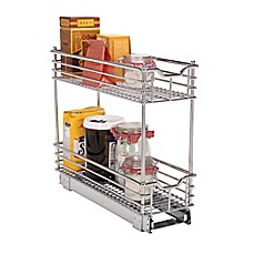 image of Household Essentials® Glidez Narrow 7-inch Sliding Organizer in Chrome