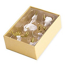 image of 6-Count Animal Head Push Pins in White and Gold