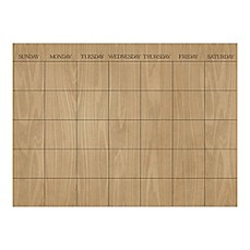 image of WallPops!® Dry-Erase Monthly Calendar in Hardwood Pattern with Dry-Erase Marker
