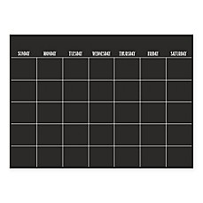 image of WallPops!® Dry-Erase Monthly Calendar in Black with Dry-Erase Marker