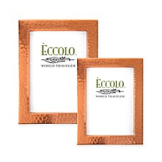 image of Eccolo Hammered Copper Picture Frame