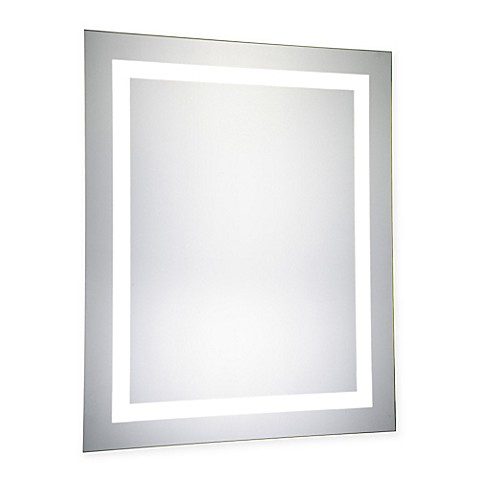 buy 24 inch x 30 inch led electric mirror from bed bath. Black Bedroom Furniture Sets. Home Design Ideas