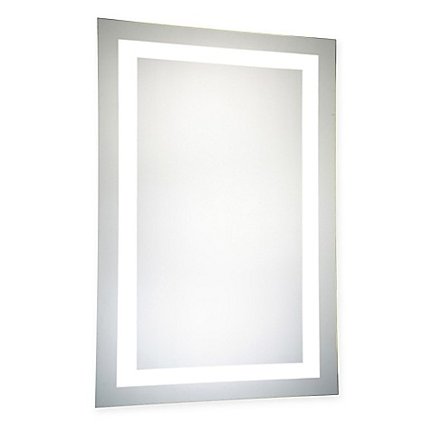 buy 24 inch x 40 inch led electric mirror from bed bath beyond. Black Bedroom Furniture Sets. Home Design Ideas