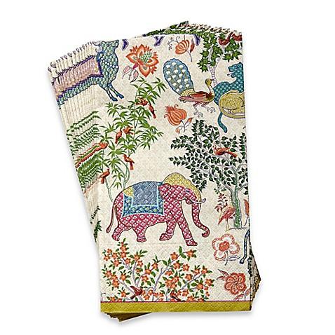 Caspari le jardin 16 count 3 ply paper guest towels bed - Disposable guest towels for bathroom ...